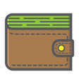 wallet filled outline icon business and finance vector image