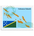 mail to-from Solomon Islands vector image vector image