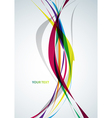 Colorful lines vector image vector image