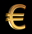 Euro sign on black vector image vector image