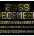 Gigital scoreboard vector image