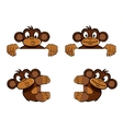 Monkey frame decoration vector image