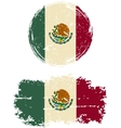 Mexican round and square grunge flags vector image