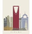 Riyadh skyline poster vector image