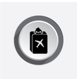 Baggage icon Luggage for traveling Info symbol vector image