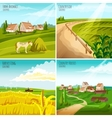 Countryside 4 Flat Pictograms Square Composition vector image
