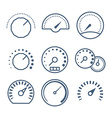 Measure tools speedometer and volume control vector image