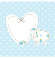 Baby blue background with sheep vector image