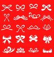 bow set red vector image