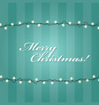 christmas lights garlands frame - festive lights vector image