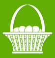 easter basket icon green vector image
