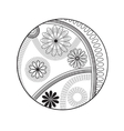 Flowers design element vector image