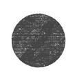 grunge round circle shape dirty texture vector image