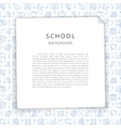School Background with Squared Sheet vector image