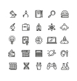 Science and education linear icons vector image