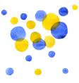 Set of watercolor spots vector image