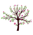 Tree spring sign vector image