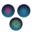firework celebration explosion night icon vector image
