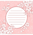 Background With Blossom vector image