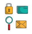 set data center icons graphic isolated vector image