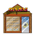 A gun shop vector image