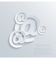 modern email background Eps 10 vector image