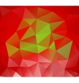 Triangle background Red polygons vector image