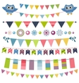 Garland and bunting set vector image