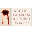 wound alphabet vector image