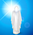 White angel against blue sky vector image vector image