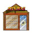 A gun shop vector image