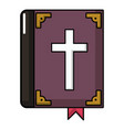 bible icon cartoon style vector image