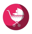 cart baby silhouette icon vector image