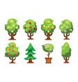 cartoon garden green tree vector image