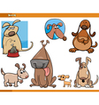 dogs characters cartoon set vector image