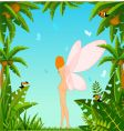 fairy in tropical background vector image