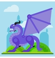 medieval classical evil dragon flat vector image