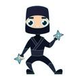 ninja warrior man vector image