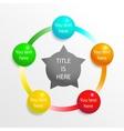 Presentation diagram elements vector image