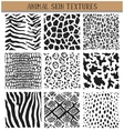 Set of nine hand drawn ink abstract textures vector image