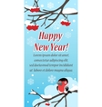 Stylish festive greeting card with bird vector image