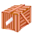 Wooden box vector image