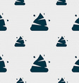 Poo icon sign Seamless pattern with geometric vector image
