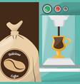 premium coffee sac drink vector image