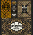 badge and cards set western style vector image vector image