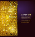sparkling gold mosaic and puple panel background vector image vector image