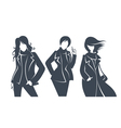 fashionable silhouettes vector image