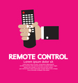 Hand Holding A Remote Control vector image vector image