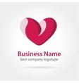 Heart logotype vector image