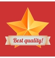 Golden 3d star with a ribbon Best quality The vector image